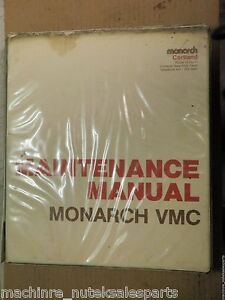 Monarch Cortland Maintenance Manual Vmc 75_mnt 75 36_mnt7536