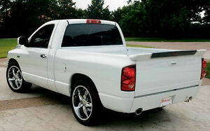 Un Painted Grey Prime Tailgate Rst Style Rear Spoiler For 2002 2008 Dodge Ram