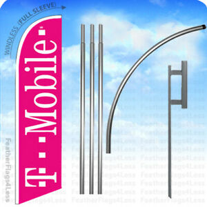T mobile Windless Swooper Feather Flag Kit Banner Sign Pb