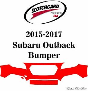 3m Scotchgard Paint Protection Film Pre Cut Fits 2015 2016 2017 Subaru Outback