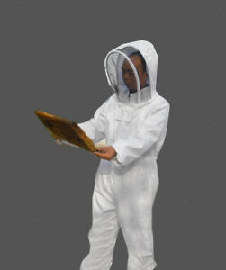 Beekeeping Jacket Veil Bee Suit Hat Pull Over Smock Protective Equipment