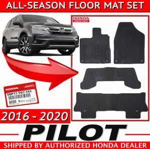 2016 2019 Genuine Oem Honda Pilot All Season Floor Mat Set Mats 08p17 Tg7 101