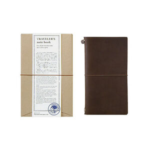 Traveler s Notebook Regular Size Brown Leather Cover Midori Japan 13715006