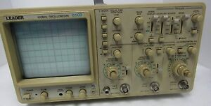 Leader 8103 100mhz Oscilloscope