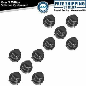 Oem 9594435 Wheel Lug Nut Cap Cover Black Set Of 10 For Pontiac Chevy Buick Olds