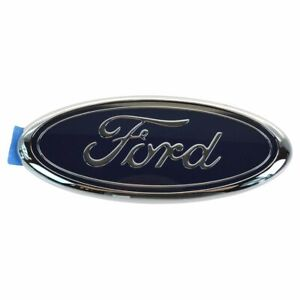 Oem E7tz9842528a Nameplate Emblem Front Grille Mounted Blue Oval For Ford Band