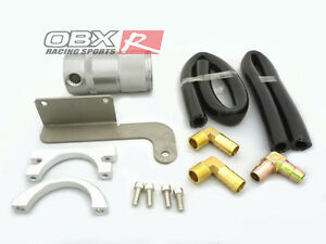 Obx Silver Billet Air Oil Separator For 2011 2014 Mustang Roush Sc 5 0l V8