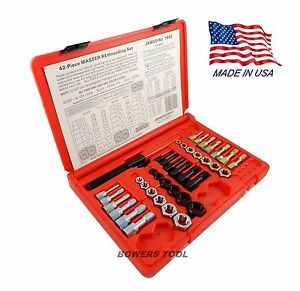 Jawco Metric Nf sae Nc uss Rethreading Set Thread Restore File Tap Dies 42pc Usa