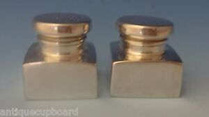 Gorham Sterling Silver Salt Pepper Shakers G Washington Reproduction 0243