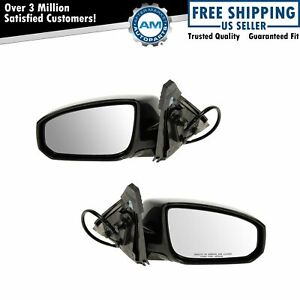 Power Side View Mirrors Left Right Pair Set For 04 08 Nissan Maxima