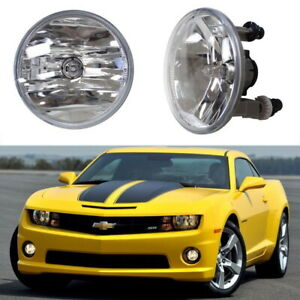 Complete Clear Lens Fog Light Lamps W 5202 Halogen Bulbs For Chevrolet Gmc Ford
