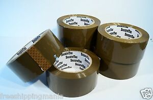 2 x110 Yard 330 packing Packaging Carton Sealing Box Brown Tan Duck Tape 6rolls