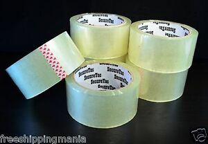 2 x 55 Yard 165 Packing Box Carton Packaging Sealing Clear Duck Tape 36rolls