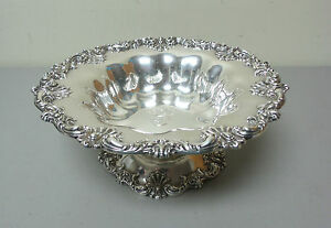 Gorgeous American Redlich Co Sterling Silver Large 10 5 Compote Centerpiece