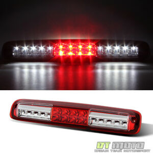 1999 2006 Chevy Silverado Gmc Sierra Red Clear Led 3rd Brake Light Cargo Lamp