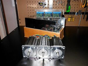 Gecko G251x 3 Drivers 48v 12 5a Power Supply 3 600oz In Dual Shaft Steppers