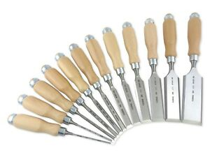 Narex made In Czech Republic 12 Pc Chisel Set European Beech Handles 810103 50