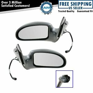 Power Side View Mirrors Left Right Pair Set New For 00 07 Ford Focus