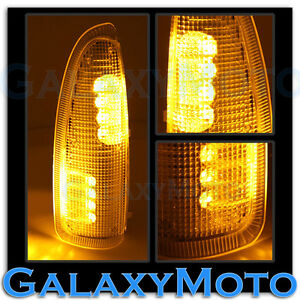 03 07 Super Duty Side Mirror Turn Lights Amber Led Amber Lens Replacement Kit