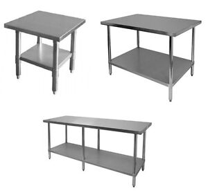 New Commercial Stainless Steel Kitchen Work Prep Table Nsf Approved all Sizes