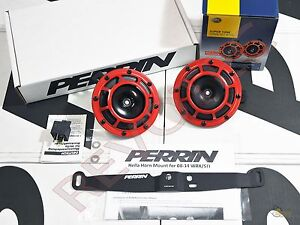 Perrin Mounting Bracket 1 Pair Hella Supertone Horn For 08 14 Wrx Sti