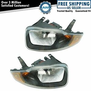 Headlights Headlamps Left Right Pair Set For 03 05 Chevy Cavalier