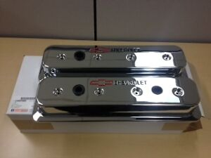 86 Up Gm Performance Chevrolet Sbc Chrome Valve Covers Center Bolt 350 12497985