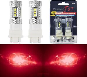 Led Light 80w 3057 Red Two Bulbs Rear Turn Signal Park Brake Tail Stop Fit
