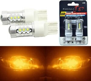 Cree Led Light 80w 7441 Amber Orange Two Bulbs Front Rear Turn Signal Park Drive