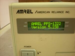 Amrel Model Pps 1322 Programmable Dc Power Supply Powers Up As Shown 2