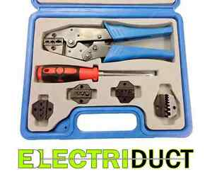 Ratcheting Terminal Crimping Kit With Carrying Case Electriduct