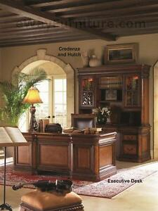 Vineyard Executive Office Home Office Desk Furniture Napa Style Cherry Finish