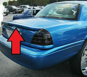 Unpainted New For Ford Crown Victoria Marauder Style Rear Spoiler Wing 1998 2008
