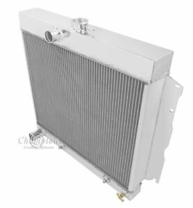 1963 1964 Plymouth Savoy Radiator Champion Polished Aluminum 3 Row Radiator