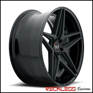 22 Blaque Diamond Bd8 Concave Wheels Rims Black Fits Ford Explorer