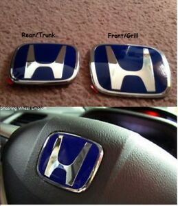3xjdm 2006 2015 Honda Civic 4door Sedan Front rear steering Wheel Blue H Emblem