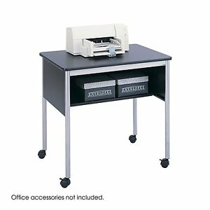 Stand Black Office Multi Purpose Storage Rolling Machine Cart Printer Laptop Fax