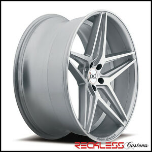 22 Blaque Diamond Bd8 Concave Wheels Rims Silver Fits Dodge Charger Rt Se Srt8