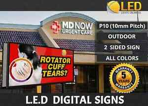 P10 4ft X 8ft 2 Sided full Color Programmable Outdoor Led Digital Sign Board