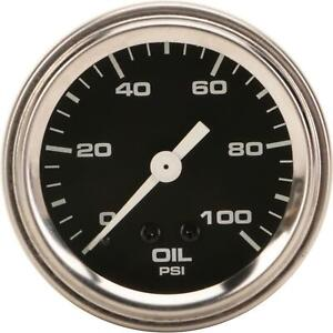 Speedway Mechanical Oil Pressure Gauge 2 1 16 Inch Black