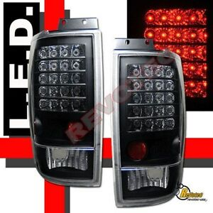 1997 2002 Ford Expedition Xlt Eddie Bauer Suv Black Led Tail Lights Lamps