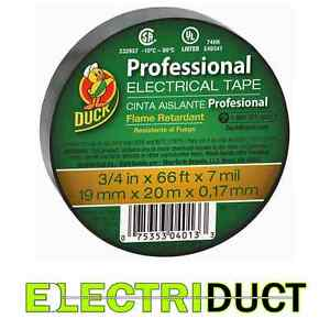 Professional Electrical Tape 3 4 X 66 Ft X 7 Mil Duck Tape Black