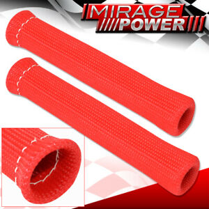Universal Slip On Spark Plug Wire Heat Sleeve Insulation Wrap N A 1200 Red