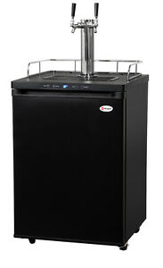 Kegerator Digital Draft Beer Cooler Dispenser Double Faucet D System