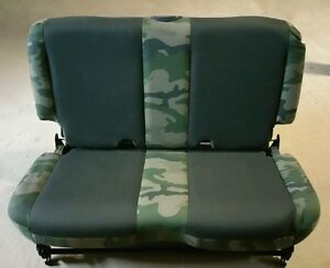 03 06 05 Jeep Willy s Wrangler Tj Factory Oem Rear back Seat Camoflauge Like New
