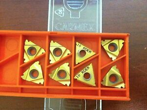 Carmex 16er10rd Mxc Indexable Carbide Laydown Threading Inserts Qty 10