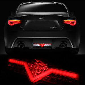 Fits 2012 2016 Scion Fr s Frs Subaru Brz Red Clear Led 3rd Brake Tail Light Lamp