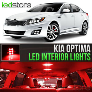Red Led Lights Interior Kit Package Bulbs For 2011 2018 Kia Optima