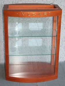Bulgari Eyeglasses Sunglasses Display Case High Quality Wood Glass Shelves