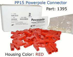Anderson Power Pp15 Powerpole Connector Red 1395 15 Amp 137pcs
